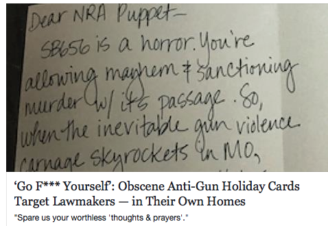 Greeting Cards for Gunwhore Legislators