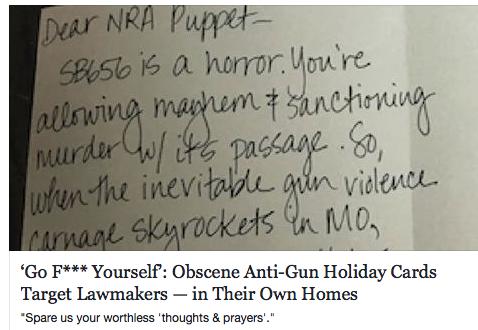 Greeting Cards for Gunwhore Legislators